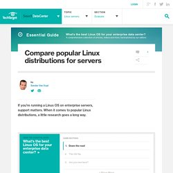 Compare popular Linux distributions for servers