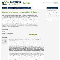 Best ways to compare large set Max Diff scores - Sawtooth Software Forum
