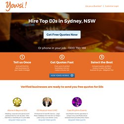 Hire top Djs in Sydney at Yowsi