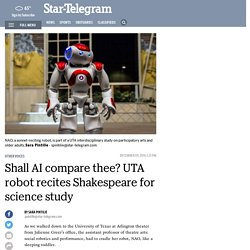 Robotic story about UTA Research