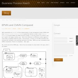 BPMN and CMMN Compared - Business Process Watch