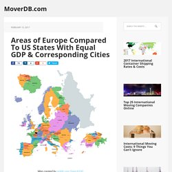 Areas of Europe Compared To US States With Equal GDP & Corresponding Cities - MoverDB.com