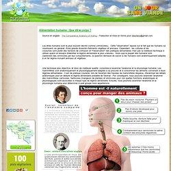 anatomie comparéen entre herbivore et carnivore, l'homme doit-il manger des animaux ? :végétarisme Belgique