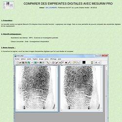 Comparer des empreintes digitales avec Mesurim Pro