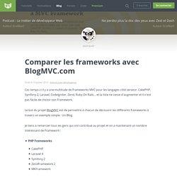 Comparer les frameworks avec BlogMVC.com