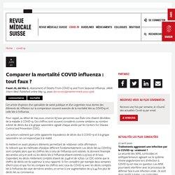 Comparer la mortalité COVID influenza : tout faux ?