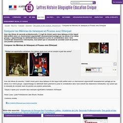 Comparer les Ménines de Velasquez et Picasso avec Etherpad