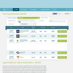 Comparez les meilleurs hypothèques taux HELOC - 3,10%