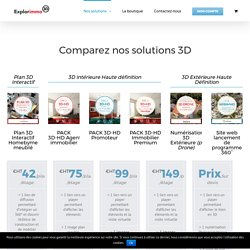 Comparez nos solutions 3D - Explorimmo 3D