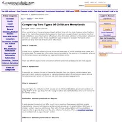 Comparing Two Types Of Childcare Merrylands