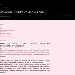Comparing The Best eCommerce Website Design And Development Platforms