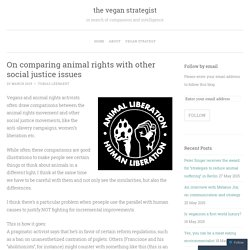 On comparing animal rights with other social justice issues