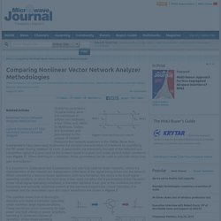 Comparing Nonlinear Vector Network Analyzer Methodologies