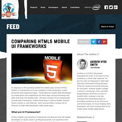Comparing HTML5 Mobile UI Frameworks