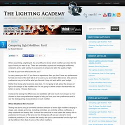 Comparing Light Modifiers: Part I « The Lighting Academy