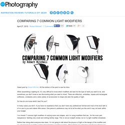 Comparing 7 Common Light Modifiers