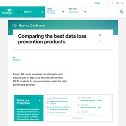 Comparing the best data loss prevention products