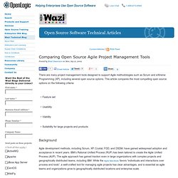 Comparing Open Source Agile Project Management Tools