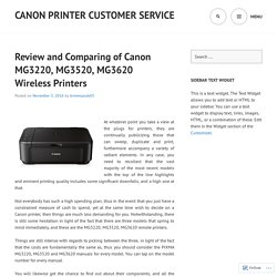 Canon MG3220, MG3520, MG3620 Wireless Printers