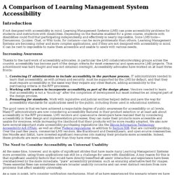 A Comparison of Learning Management System Accessibility