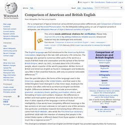 Comparison of American and British English