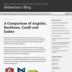 A comparison of Angular, Backbone, CanJS and Ember - Sebastian's Blog