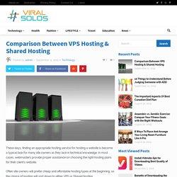 Comparison Between VPS Hosting & Shared Hosting