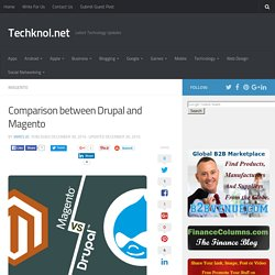 Comparison between Drupal and Magento