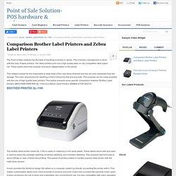Comparison Brother Label Printers and Zebra Label Printers