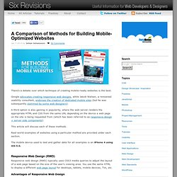 A Comparison of Methods for Building Mobile-Optimized Websites