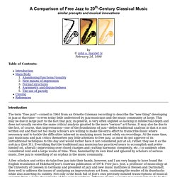 A Comparison of Free Jazz to 20th-Century Classical Music