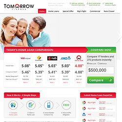 Home Loan Comparison | Home Loans Calculator for Refinancing « Tomorrow Finance