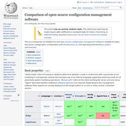 Comparison of open source configuration management software