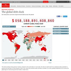 World debt comparison: The global debt clock