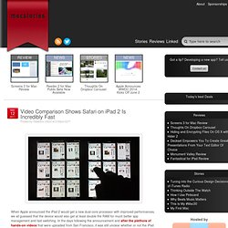 Video Comparison Shows Safari on iPad 2 Is Incredibly Fast