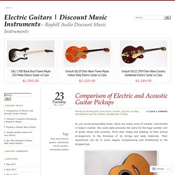 Comparison of Electric and Acoustic Guitar Pickups