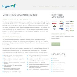 Compare Business Intelligence Tools