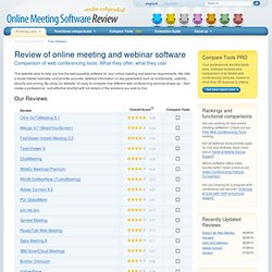 Vendor-independent review and comparison of online meeting and webinar tools