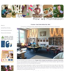 Comparison of Reggio Emilia, Waldorf (Steiner) and Montessori Primary Classrooms - how we montessori