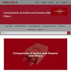 Comparison of Active and Passive EMI Filters