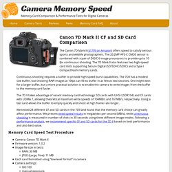 Canon 7D Mark II Fastest SD / CF Card Comparison write speed and continuous shot tests - Camera Memory Speed Comparison & Performance tests for SD and CF cards