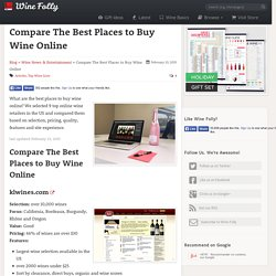 A Comparison of the Best Places to Buy Wine Online