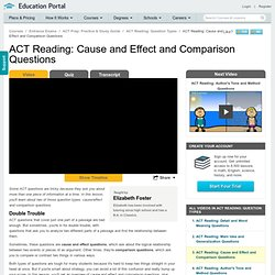 ACT Reading: Cause and Effect and Comparison Questions Video - Lesson and Example