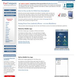 Mobile Fax App Comparison of Online Faxing Services
