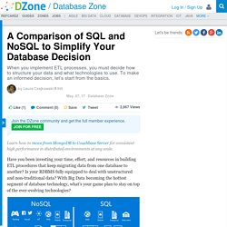 A Comparison of SQL and NoSQL to Simplify Your Database Decision - DZone Database
