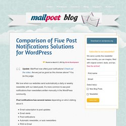 Comparison of Five Email Subscription Solutions for WordPress