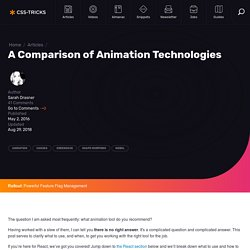 A Comparison of Animation Technologies