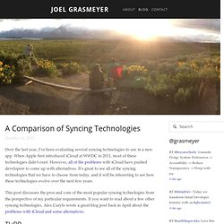 A Comparison of Syncing Technologies — Joel Grasmeyer