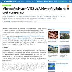Microsoft's Hyper-V R2 vs. VMware's vSphere: A cost comparison