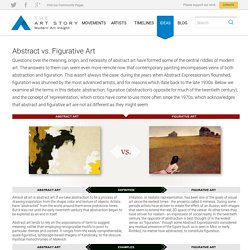 Comparison of Abstract vs. Figurative Art by TheArtStory